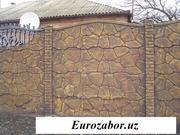 Заборы декоративные железобетонные (еврозаборы)
