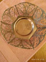 Ваза-конфетница из мельхиора